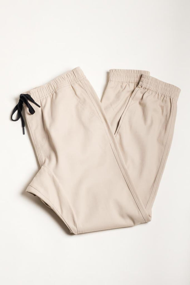 Khaki Color Jogger Pants