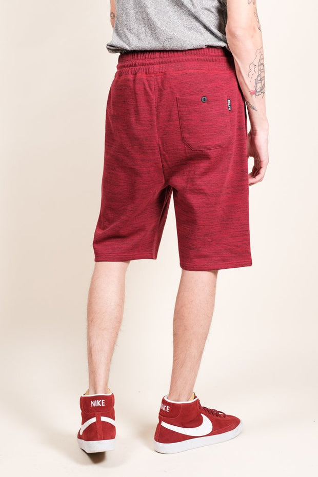 Brooklyn Cloth Burgundy Space Dye French Terry Jogger Short