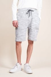 Grey Yarn Dye Space Dye French Terry Jogger Shorts