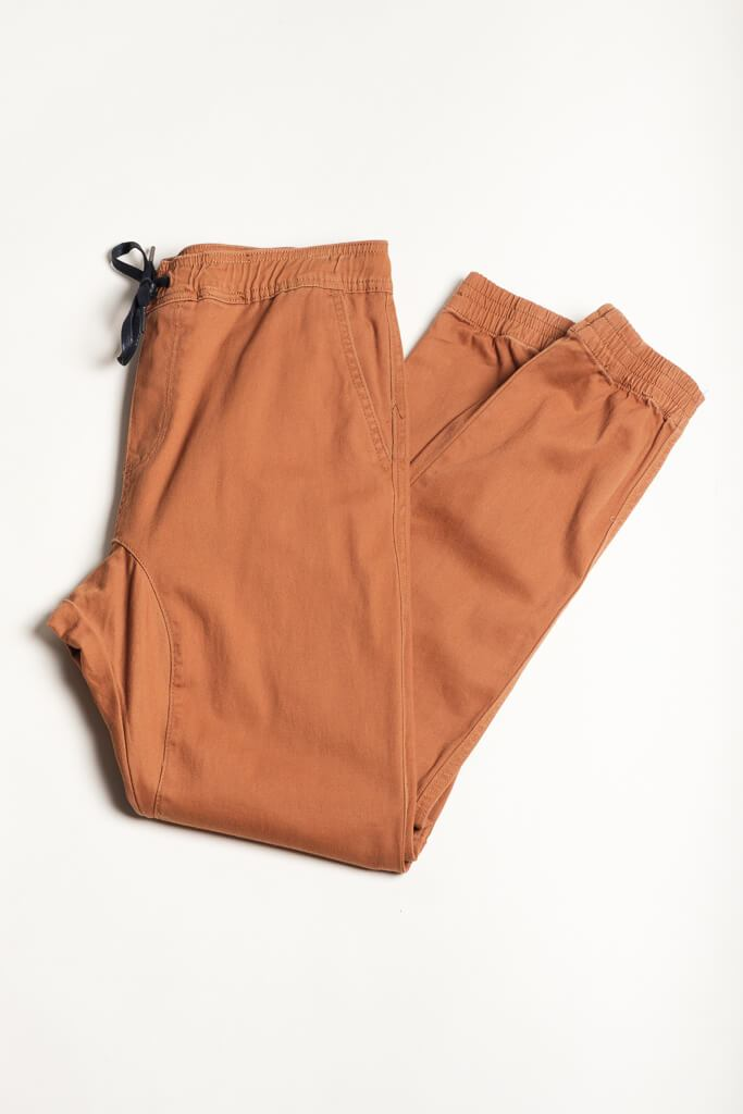 Cinnamon Twill Jogger Pants