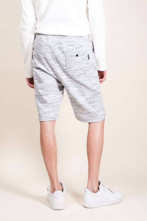 Brooklyn Cloth Grey Yarn Dye Space Dye French Terry Jogger Shorts