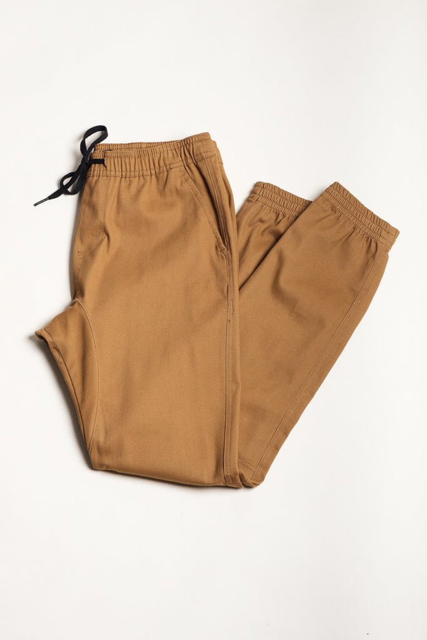 Boys Tobacco Twill Jogger Pants