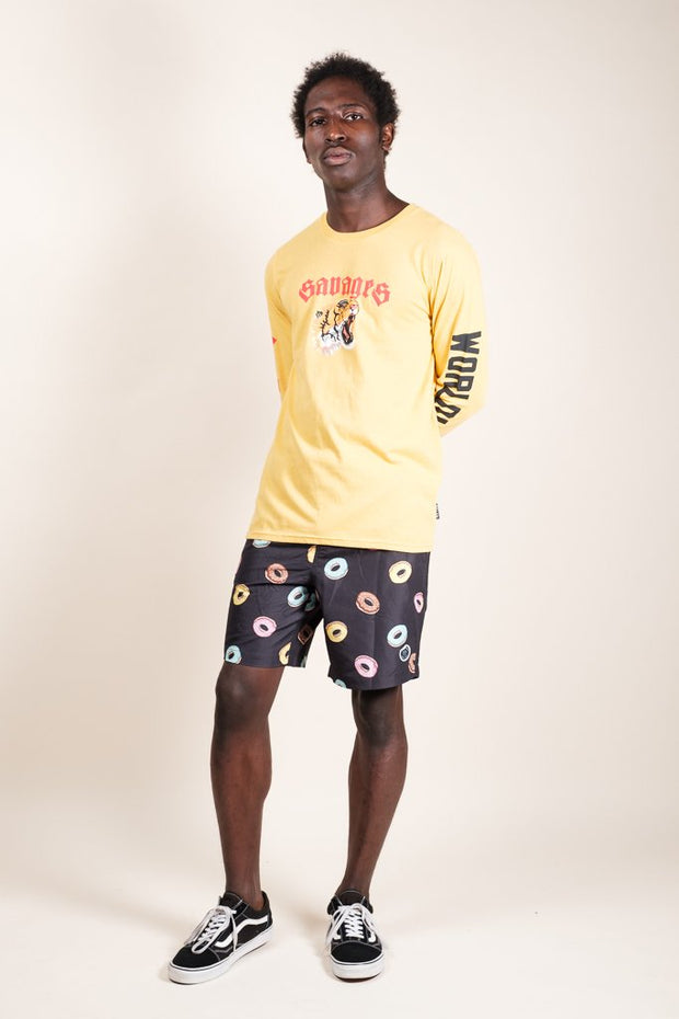Brooklyn Cloth Men's Donut Print Swim Trunks