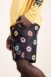 Brooklyn Cloth Donut Print Swim Trunks