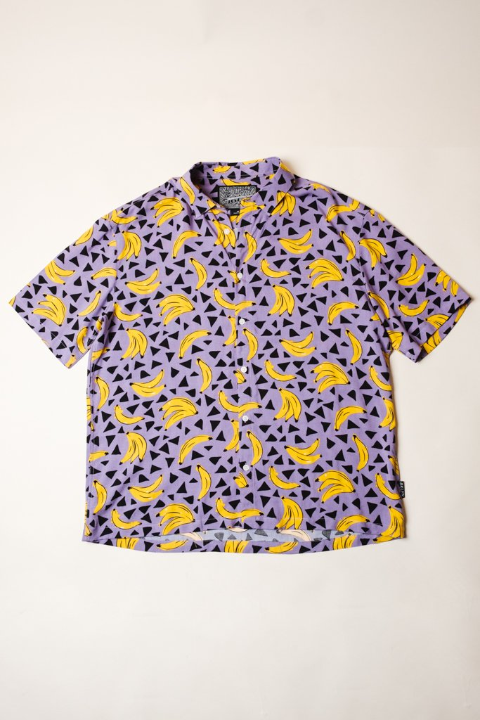 Crazy Banana Print Button Down Shirt