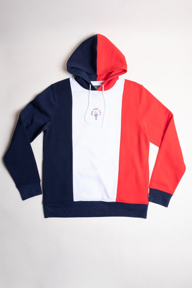 New York Vertical Color Blocked Hoodie