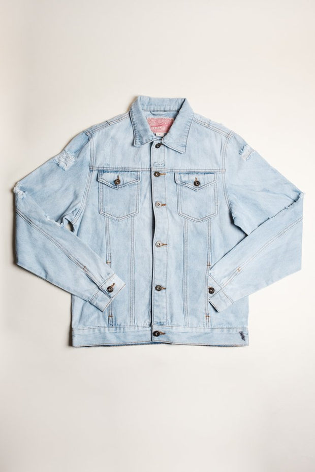 Trucker Jacket for men in light wash