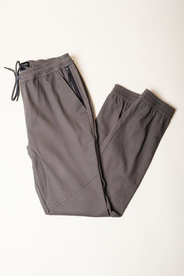 Twill Jogger Pants in Charcoal Grey for men