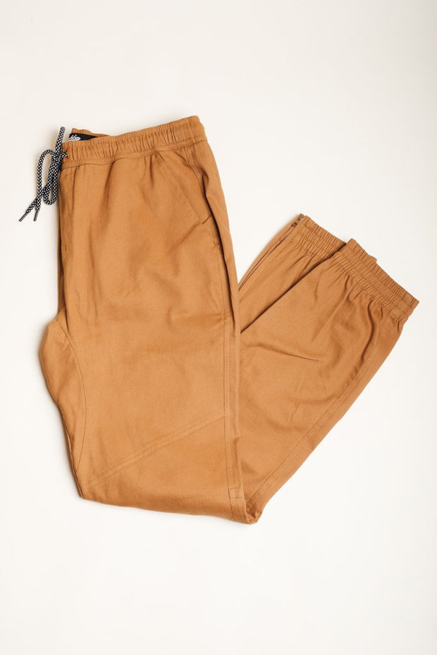 Brooklyn Cloth Tobacco Ankle Zip Twill Jogger Pants