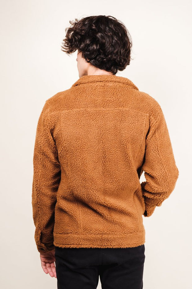 Brooklyn Cloth Tobacco Sherpa Trucker Jacket
