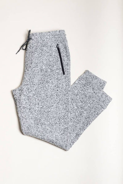 Grey Marl Cozy Jogger Pants for Men