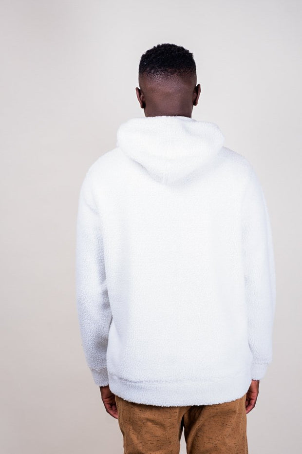 Brooklyn Cloth Ivory Sherpa Pullover Hoodie