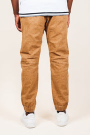 Men's Tobacco Space Dye Moto Twill Jogger Pants