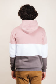 Brooklyn Cloth Pink Mock Neck Quarter Zip Hoodie
