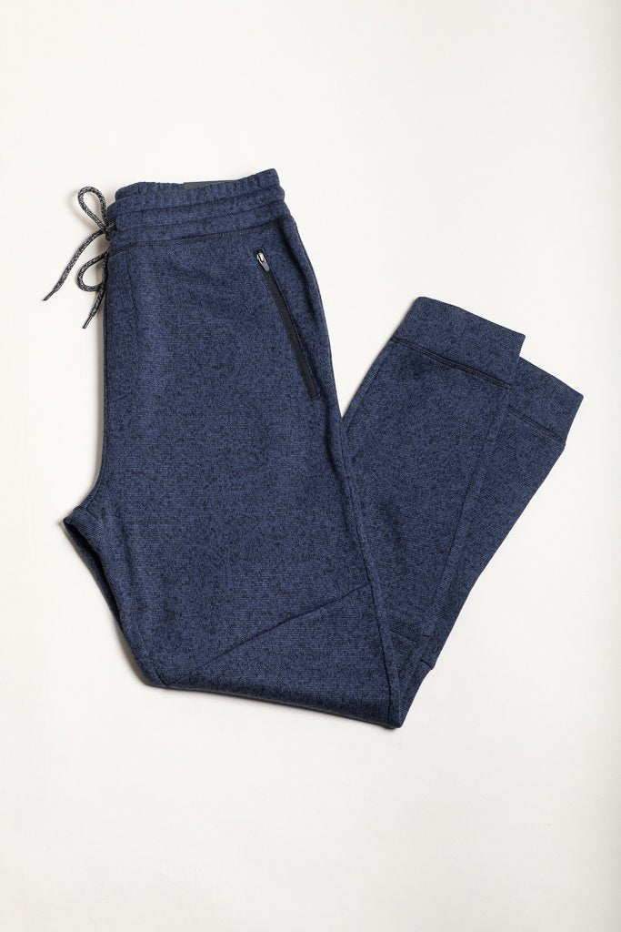 Ocean Marl Cozy Knit Jogger Pants