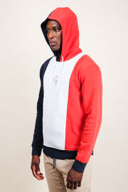 New York Vertical Color Blocked Hoodie for Men