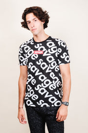 Men's Black Savage Graphic Tee