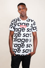 White Savage Graphic Tee