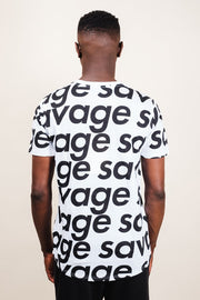 Men's White Savage Graphic Tee