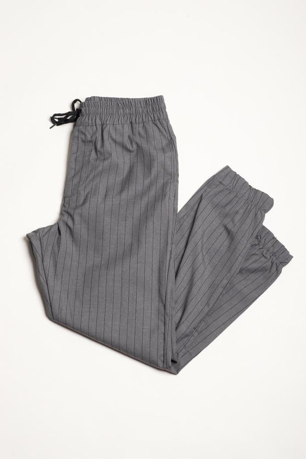 Pinstripe Suit Pants for Men in Grey