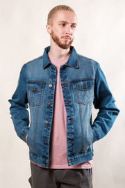 Wash Distressed Denim Jacket by Brooklyn Cloth