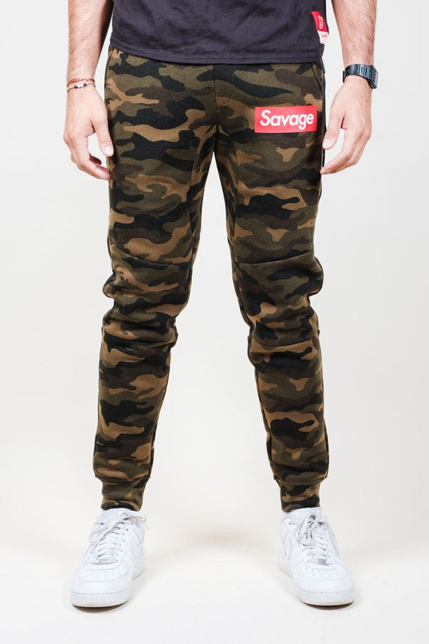 Camo Savage Fleece Jogger Pants