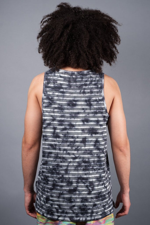 Men's Navy Tie Dye Tank Top