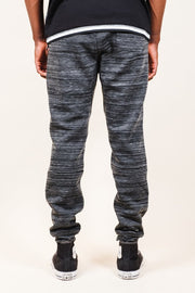 Brooklyn Cloth Black Heat Seal Space Dye Jogger Pants