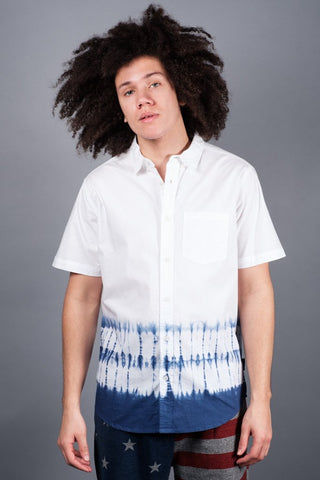 White Ring Tie Dye Woven Shirt