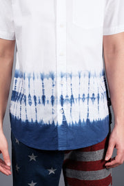 White and Blue Tie Dye Shirt for men