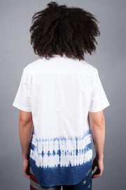 Brooklyn Cloth White and Blue Tie Dye Shirt for Men