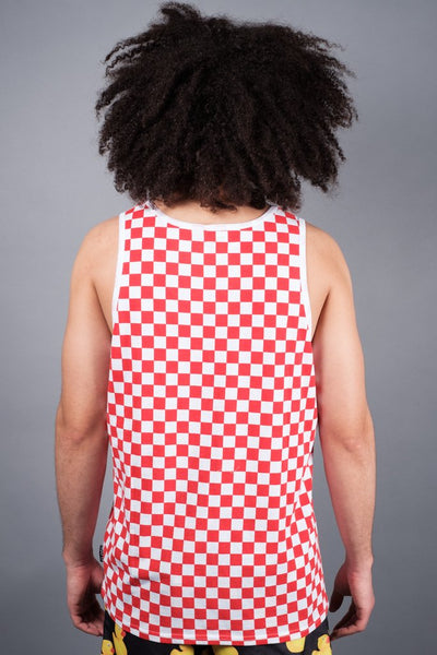 Brooklyn Cloth Red Checkered Tank Top