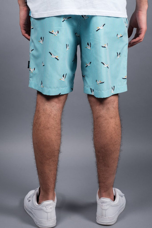Men's Bird Striped Volley Shorts