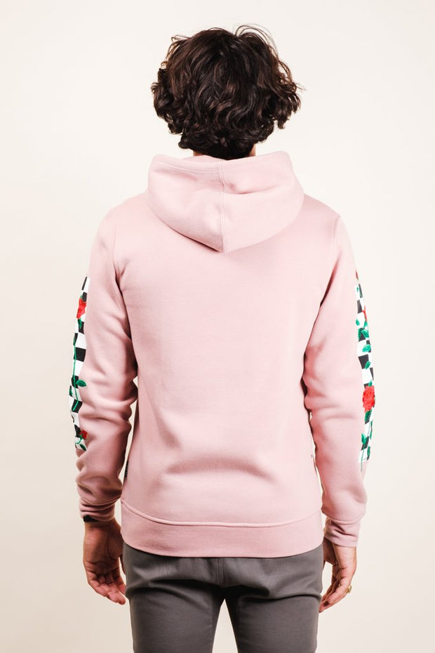 Pink Rose Checkered Hoodie
