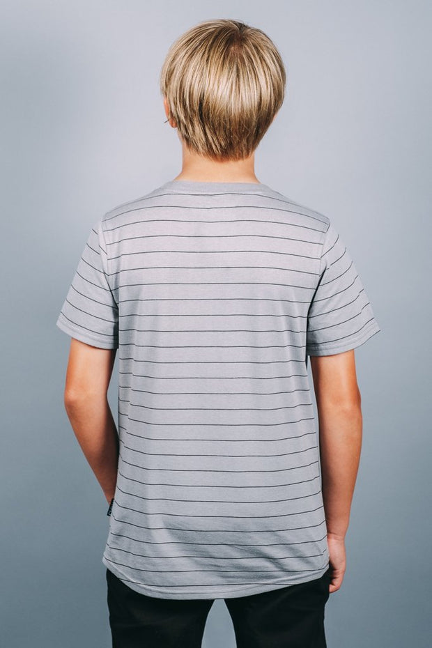 Boys Grey Basic T-Shirt