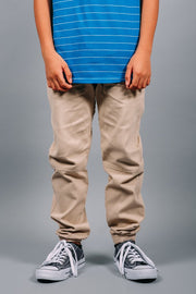 Boys Khaki Jogger Pants