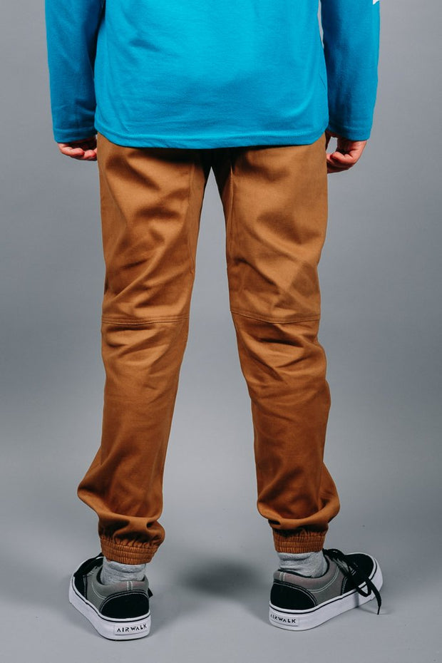Boys Tobacco Jogger Pants at Brooklyn Cloth