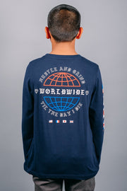 Boys Navy Long Sleeve Tee