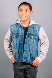 Boys Fleece Denim Jacket