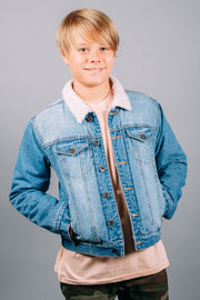 Boys Sherpa Denim Jackets