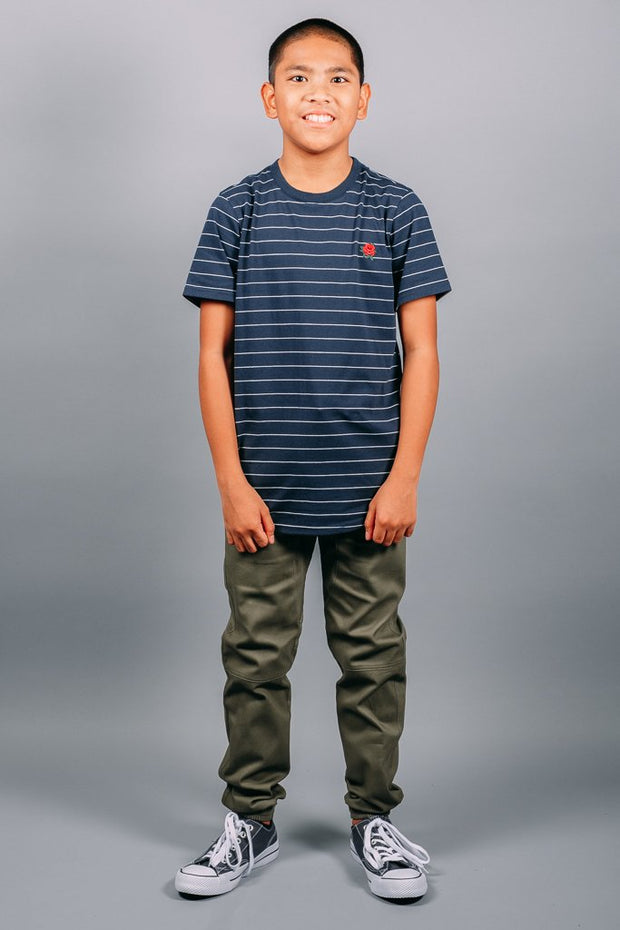 Boys Navy Basic Tee at Brooklyn Cloth