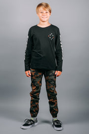 Brooklyn Cloth Boys Dark Camo Jogger Pants