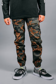 Boys Dark Camo Jogger Pants