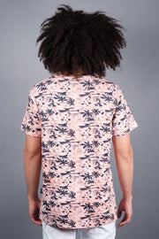 Pink Palm Tree Print T-Shirt
