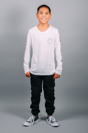 Brooklyn Cloth Boys White Long Sleeve Tee