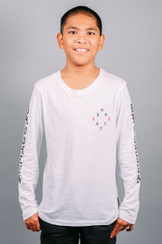 Boys White Long Sleeve T-Shirt