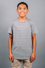 Boys Grey Striped Tee