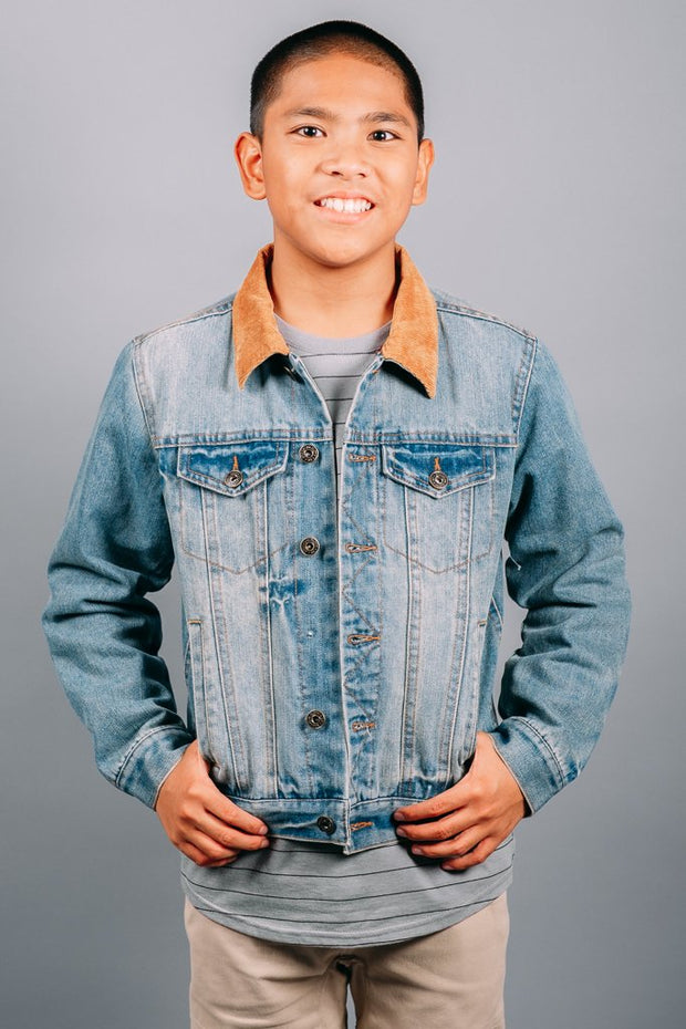 Boys Winter Denim Jacket