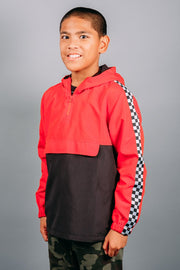 Boys Red Windbreaker