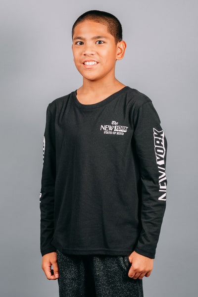 Boys Black Long Sleeve Shirt